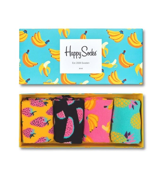 Giftbox (4-pak) skarpetki Happy Socks XPOP09-3000