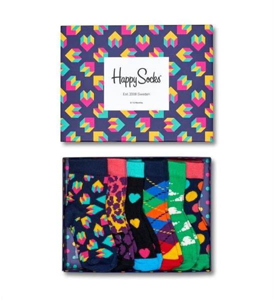 Giftbox (6-pak) skarpetki dziecięce Happy Socks XKSTE10-6000