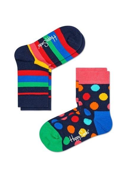 Skarpetki dziecięce Happy Socks 2-pak Stripe KSTR02-6002