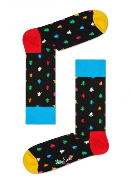 Skarpetki świąteczne Happy Socks Holiday Singles Tree CON01-9000
